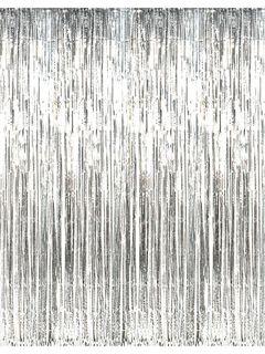 8 Black Foil Fringe Door Or Window Curtain Foil Curtain
