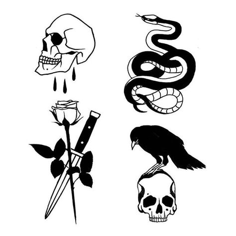 Disponibles.  #design #blackwork #blacktattoo #onlyblackart #onlythedarkest #darkartists #btattooing #available #sketch #tttism #blackworkers #skull #snake #rose #crow #blacktattooart