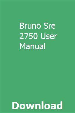 Bruno Sre 2750 Wiring Diagram