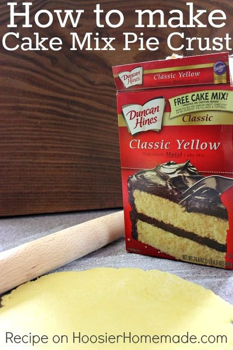 How to Make a Pie Crust from a Cake Mix :: Recipe and Tutorial on HoosierHomemade.com #Baking