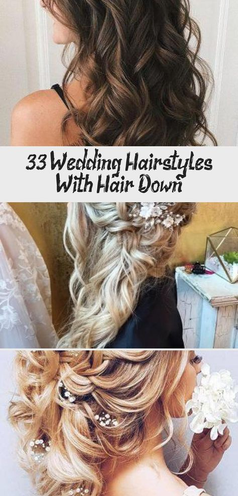 33 Wedding Hairstyles With Hair Down ❤ wedding hairstyles down curly long blonde with side silver pin elstile #weddingforward #wedding #bride #weddinghairstyles #weddinghairstylesdown #promhairWeave #promhairBlonde #promhairAccessories #promhairBlackGirls #promhairMedium