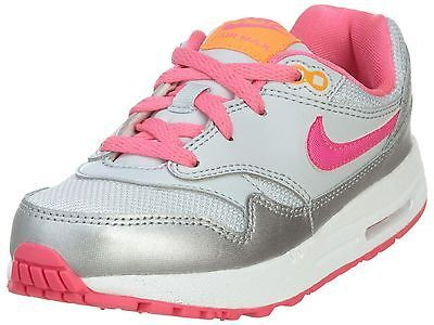 wholesale dealer 9a27b e0673 Nike Air Max 1 Td Toddler 631888-005 Silver Pink Infant Girls Shoes Baby  Size 10