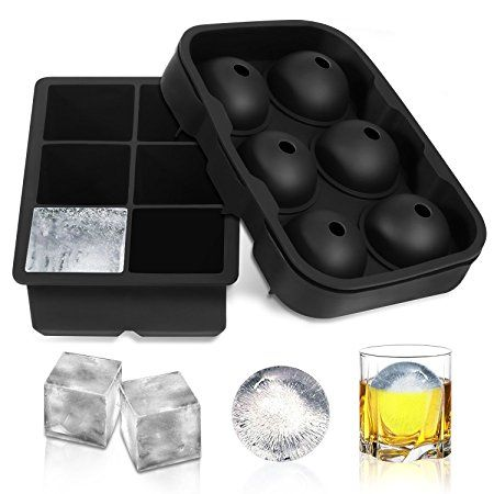6 Reusable Ice Cube Balls Plastic Re freezable Ice Drinks Bar Parties Whisky !