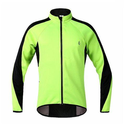 WOSAWE Thermal Fleece Cycling Jersey Wind Coat Winter Jacket for Men ... d03748f91