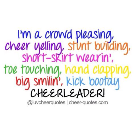 cheerleader ❤️ | Cheerleading quotes, Cheer quotes, Funny ...