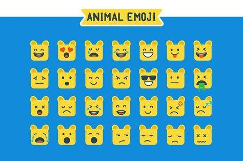 Animal Emoji Emoji Set Travel Packing Emoji