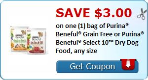 10 49 In Savings On Beneful Dog Food 3 Pound Grain Free For