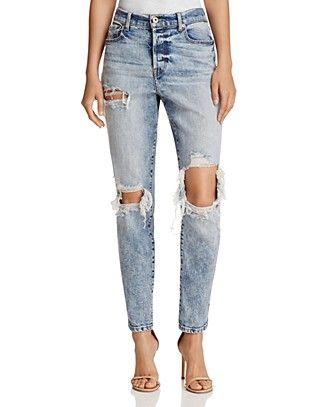Pistola Womens Presley Denim Light Wash Boyfriend Jeans