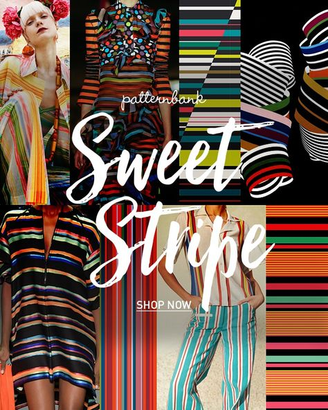 Sweet Stripe Trend Story on Patternbank Online Textile Print Design Studio