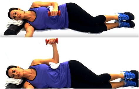 With these points in mind, let's see which exercises are best for increasing strength, stability, and range of motion after rotator cuff injury. 12 Best Exercises To Strengthen The Rotator Cuff Muscles After Injury Side-lying External Rotation Frozen Shoulder Exercises, Neck And Shoulder Exercises, Shoulder Injuries, Shoulder Muscles, Shoulder Workout, Shoulder Stability Exercises, Rotator Cuff Injury Exercises, Rotator Cuff Strengthening, Shoulder Tendonitis Exercises