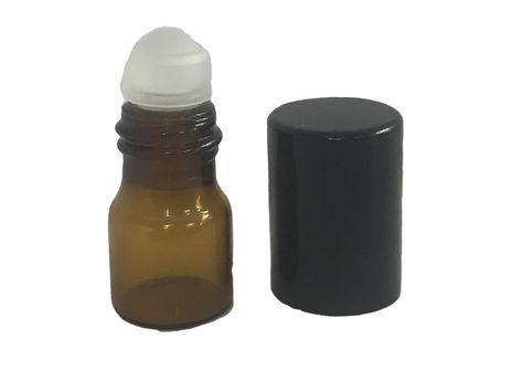 1 4 Dram Amber Sample Vial With Plastic Roller Qty Of 5 Vials Dram Amber Glass