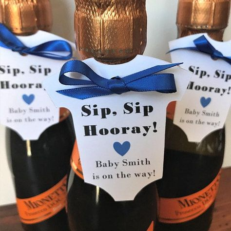 Sip Sip Hooray Wine Bottle Baby Shower Tags (2.5 Wide) Champagne Bottle Baby Shower Tags Baby Shower Favor Tags Listing for Tags Only