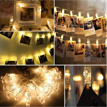 Home Light Clips Hanging Photos Fairy Lights