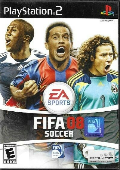 Playstation 2 Fifa Soccer 08 Sony Slus 21648 Video Game 2007 Fifa Soccer Nintendo Ds