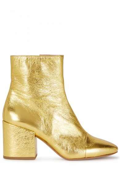 Dries Van Noten Gold leather ankle
