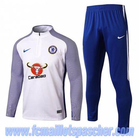 acheter en ligne 9f754 14e42 magasin survetement homme foot FC Chelsea Blanc imprim ...