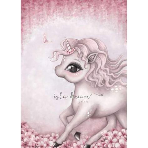 Cinnamon the Unicorn by Isla Dream Prints available from Green Door Decor
