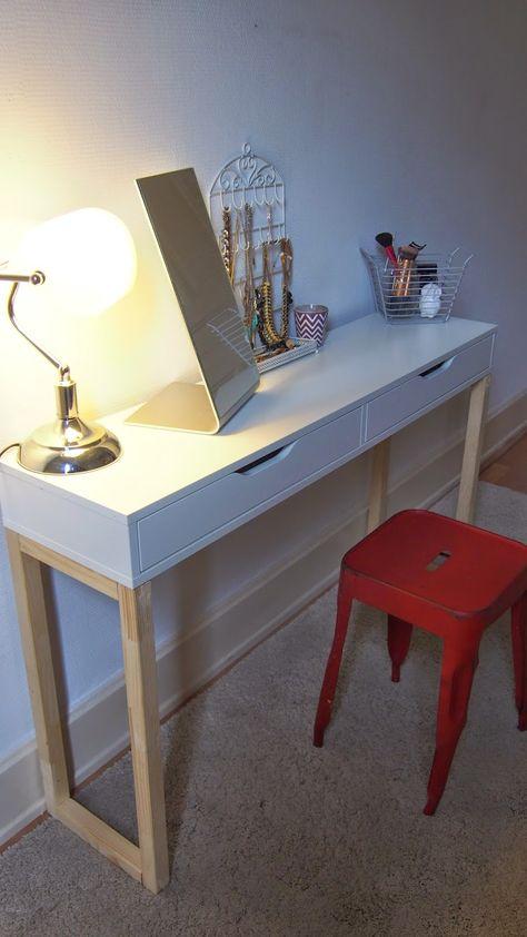 Beauty and Rose DIY  Une coiffeuse unique my dream office - meuble coiffeuse avec miroir pas cher