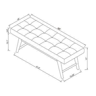 Phenomenal Copan Mid Century Bench Dark Gray Project 62 In 2019 Spiritservingveterans Wood Chair Design Ideas Spiritservingveteransorg