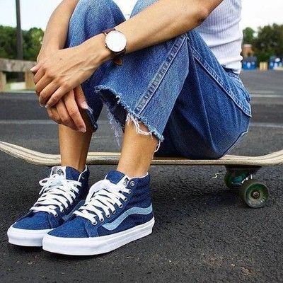 tenu vans bleu
