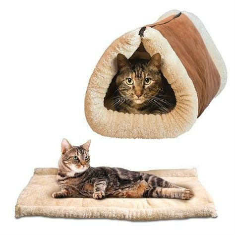 CARRYKT Foldable Wooden Cat Hammock Elevated Blanket Small Dog Sleeping Bed Hanging Sofa