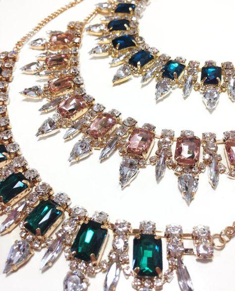 Elegant Crystal Statement Necklace