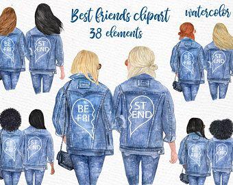 39++ Best friends clipart watercolor ideas in 2021