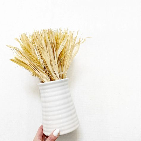Way To Celebrate Harvest Wheat Bouquet in Ceramic Pot - Walmart Finds - Our wheat bouquet in a classic white ceramic pot instantly brings Autumn vibes to any room. Its here just in time for fall, when hosting family and friends becomes so important. Easily add Modern Farmhouse vibes to your home. #walmarthome #falldecor #farmhousedecor #falldecorideas #walmartfinds