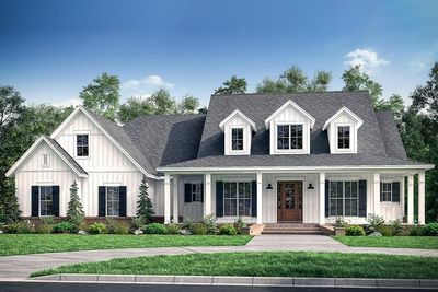 Plan 51784hz Fresh 4 Bedroom Farmhouse Plan With Bonus Room Above 3 Car Garage Farmhouse Style House Modern Farmhouse Plans House Plans Farmhouse