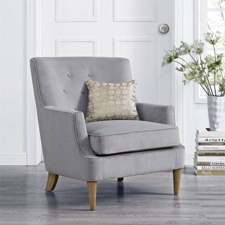 Mainstays Accent Chair Gray Walmart Com Accent Chairs Living Room Chairs Remodel Bedroom
