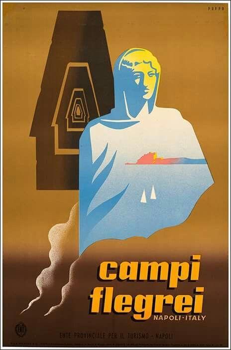 TV99 Vintage 1950/'s Pozzuoli Naples Italian Italy Travel Tourism Poster A2//A3