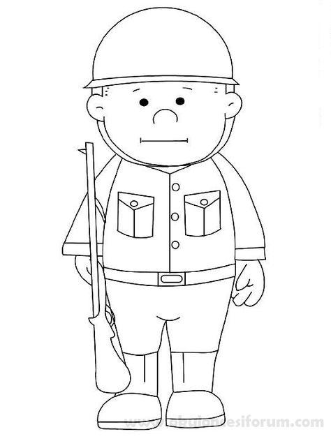 Asker Boyama Ve Etkinlikleri Okul öncesi Askeri Ve Boyama