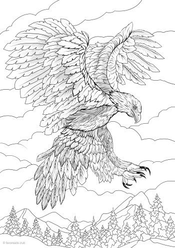 Eagle Printable Adult Coloring Animal Coloring Pages Coloring