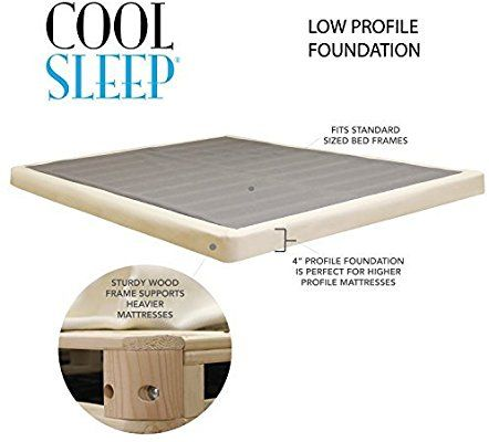 Amazon Com Lifetime Sleep Products 4 Low Profile Box Spring Great Memory Foam Mattress Queen Kitche Memory Foam Mattress Foam Mattress Mattress Box Springs