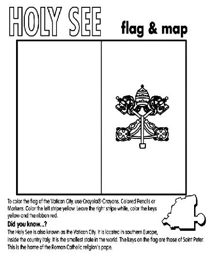 Holy See Vatican City Coloring Page Coloring Pages Flag