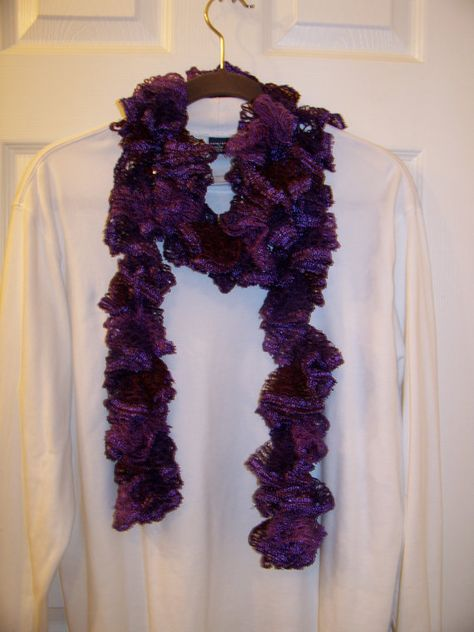 Gorgeous Purple Colored Sashay Scarf by AStitchInTimeScarves, $11.00