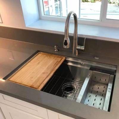 Prolific 33 L X 17 3 4 W X 11 Undermount Single Bowl Kitchen Sink With Accessories Undermount Kitchen Sinks Kitchen Sink Remodel Single Bowl Kitchen Sink