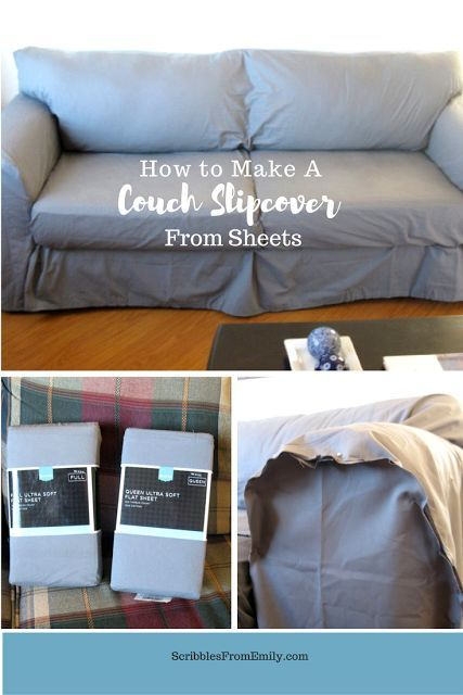Diy Couch Slipcover From Sheets Slip Covers Couch Diy Couch