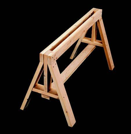 Now Is The Time To Build Great Sawhorses Homeskills Carpentry Woodworking Projects Sawhorse Woodworking