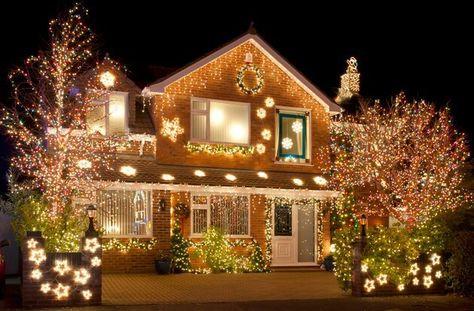 Haus Weihnachtsbeleuchtung.Weihnachtsdeko Ideen Mit Lichterketten Haus Von Außen Dekorieren