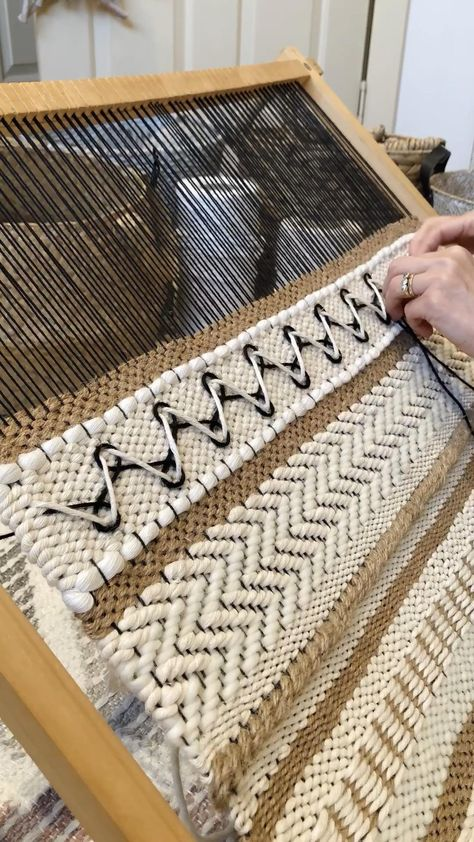 Adding embroidery to your weaving