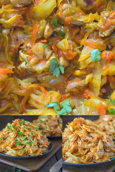 This Sautéed Cabbage with Chicken is so flavorful, filling, and healthy that I cannot say enough good things about it. It is a MUST TRY and I hope you won't skip this recipe. FOLLOW Cooktoria for more deliciousness! #cabbage #chicken #lowcarb #keto #ketodiet #ketorecipe #dinner #recipeoftheday