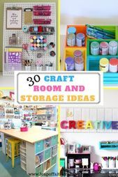 - Leap of Faith Crafting 30 Craft Room Ideas! Get craft room organization, craft room storage and craft room makeover ideas! Ranging from DIY, on a budget, pegboards for craft rooms, and Ikea hacks!