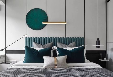 mix of different textures in one place | modern bedroom interior design
