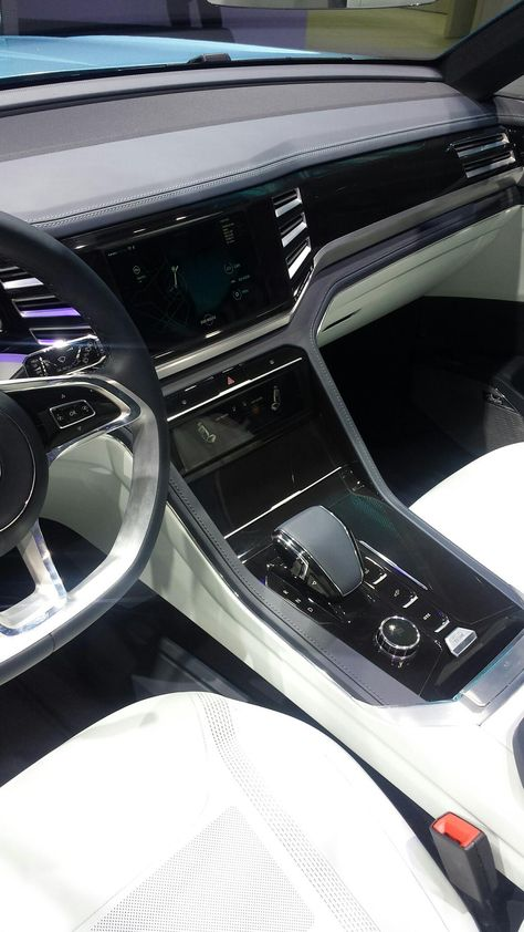 Interior detail of the Cross Coupe GTE concept at #NAIAS. #VWNAIAS