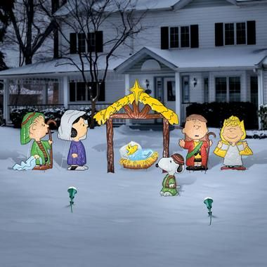 Large+Outdoor+Nativity+Sets peanuts nativity set $ 279 99 our - peanuts outdoor christmas decorations