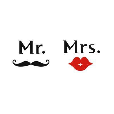 Just US$5.16, buy Art Mr Mustache Mrs Red Lips Shape Water Resistant Wall Decals online shopping at GearBest.com Mobile.