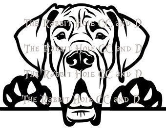 Black Great Dane Etsy Black Great Danes Great Dane Dog Silhouette
