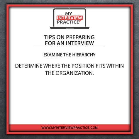 Tips On Preparing For An Interview Examine The Hierarchy Determine