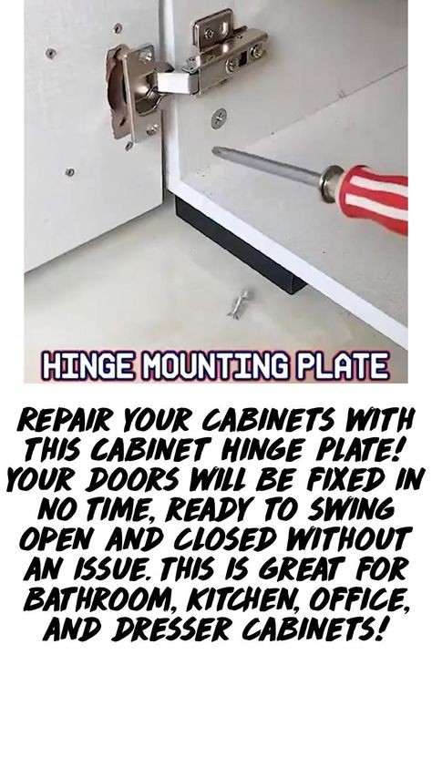 Cabinet Hinge Plate